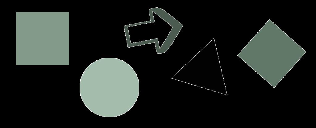 Les différentes formes pour l'identité visuelle
