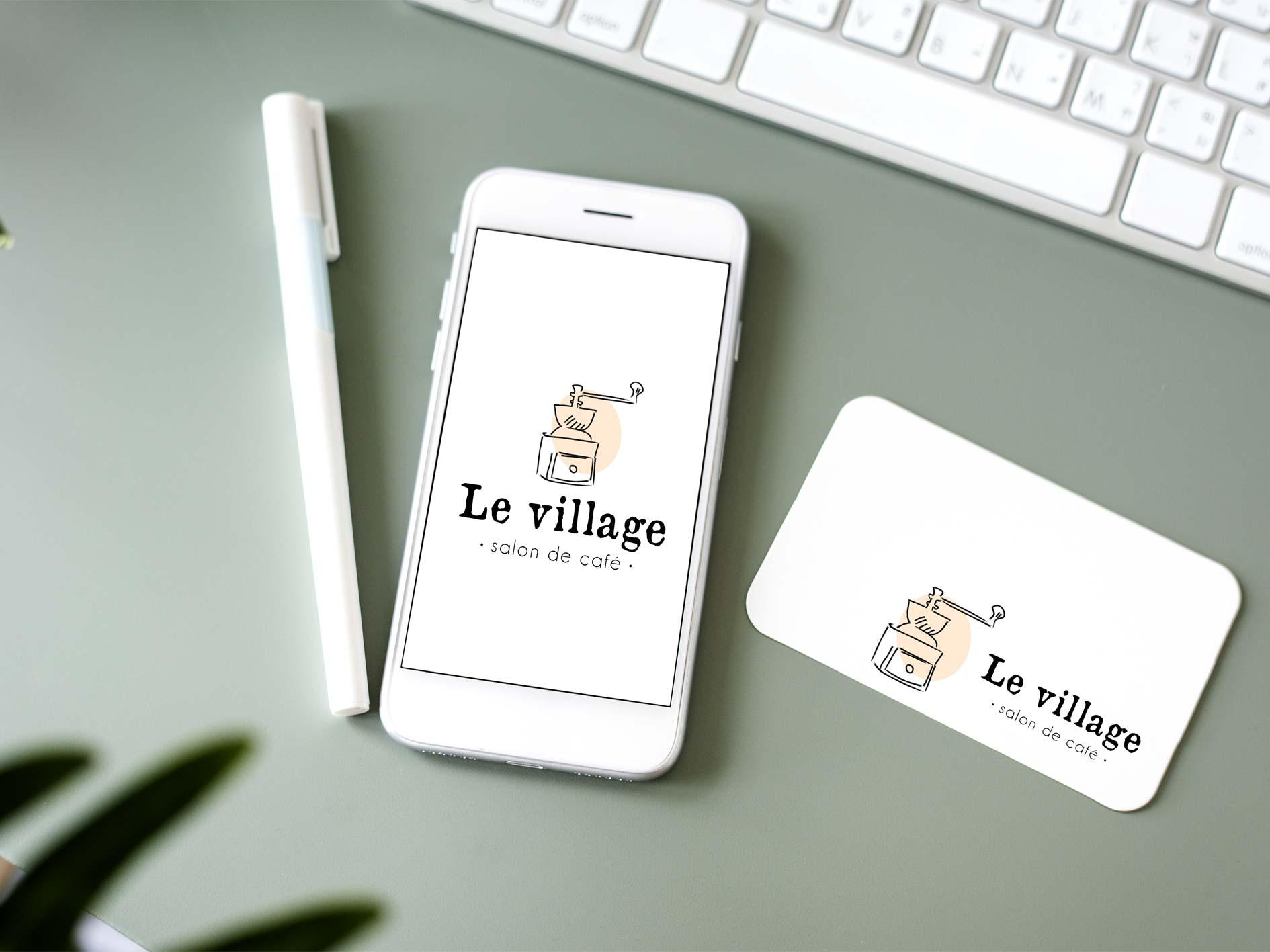 Logo salon de café Le Village graphiste dijon
